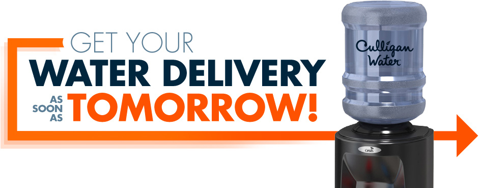 Get Your Water Delivery as soon as Tomorrow!